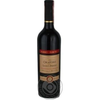 Вино красное сухое 12% 750мл
