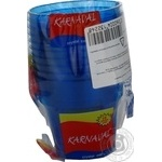 Стаканы Karnaval пластик синий 180мл 10шт/уп
