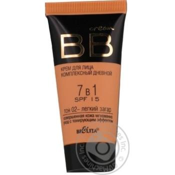 Крем для лица Bielita BB 7в1 SPF15 тон 02 30мл
