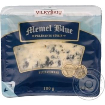 Сыр полутвердый Vilkyskiu Memel Blue с плесенью 100г - купить, цены на Novus - фото 1