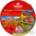 Сир плавлений Sertop шинка/зелень асорті 27% 140г
