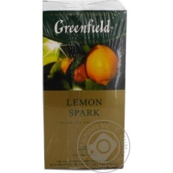 Чай Greenfield чорний Lemon Spark 25шт*1.5г