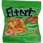 Сухарики Flint соленые пшенично-ржаные со вкусом холодца с хреном 35г Украина