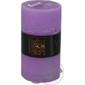 Свеча Pragnis Рустик цилиндр светло-сиреневый - купить, цены на Метро - фото 3