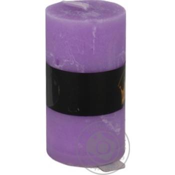 Свеча Pragnis Рустик цилиндр светло-сиреневый - купить, цены на Метро - фото 2