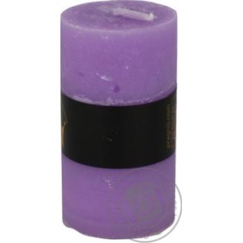 Свеча Pragnis Рустик цилиндр светло-сиреневый - купить, цены на Метро - фото 4