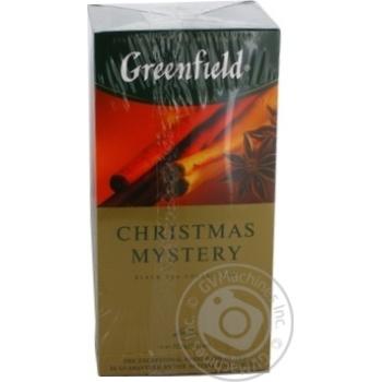 Чай Greenfield черный Christmas Mystery 25шт*1.5г - купить, цены на Метро - фото 3