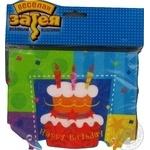 Серветка Торт Birthday 33см 12шт
