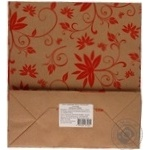 Пакет крафтовий Квіти  250Х230Х100мм