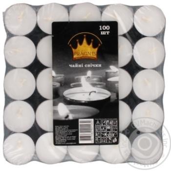 Свечи Pragnis чайные 100шт - купить, цены на Метро - фото 1