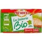 Масло President Био 82% 250г