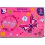 Фарба гуашева Cool for school Butterfly 6 кольорів