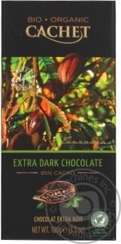 Шоколад экстрачерный Cachet органический 85% 100г