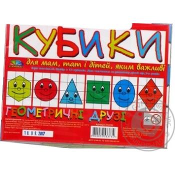 Кубики Геометрические друзья - купить, цены на Novus - фото 2
