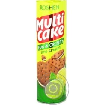 Крекер Roshen Multicake з лаймовою начинкою 135г - купити, ціни на Novus - фото 1