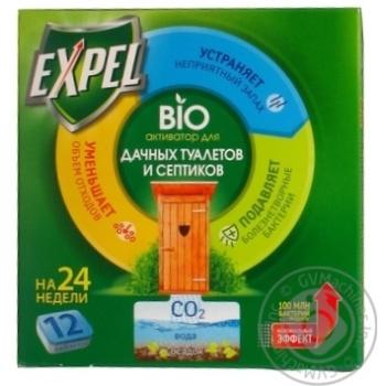 Биоактиватор Expel для дачных туалетов в таблетках 12шт 240г - купить, цены на Метро - фото 1