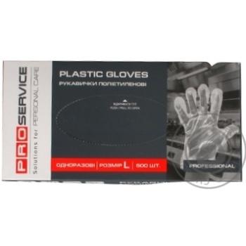 Перчатки ProService полиэтиленовые одноразовые размер L 500шт