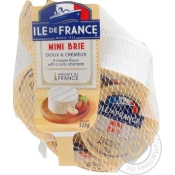 Скидка на Сыр Ile de France Mini Brie мягкий 5*25г