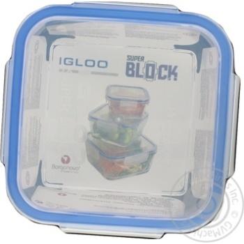Ємність для зберігання продуктів Borgonovo Superblock Q14 800мл
