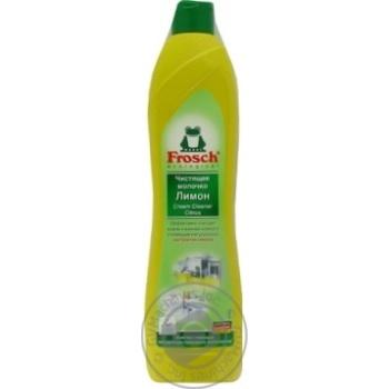 Молочко Frosch Лимон чистящее универсальное 500мл Германия - купить, цены на Novus - фото 2