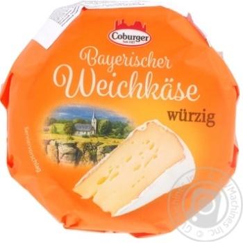 Сыр Coburger Баварский пикантный 150г - купить, цены на Ашан - фото 1