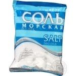 Соль пищевая Золотой зубр Морская плюс 1000г
