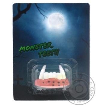 Украшение праздничное декоративные зубы к празднику хэллоуин 11x3x14см