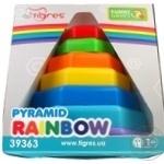 Іграшка розвиваюча Пірамідка-веселка в коробці