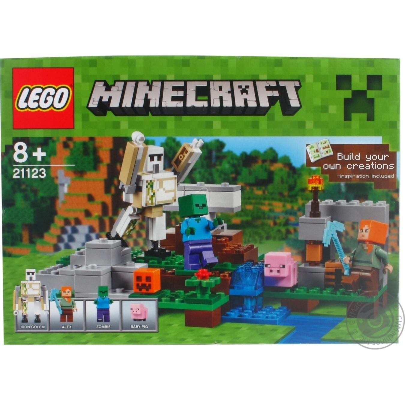 конструктор Lego железный голем 21123 детское игрушки