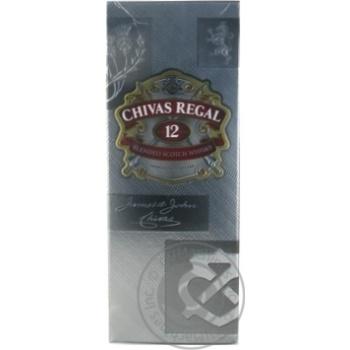Віскі Chivas Regal 12 років 40% 0,375л в подарунковiй упаковцi - купити, ціни на МегаМаркет - фото 1