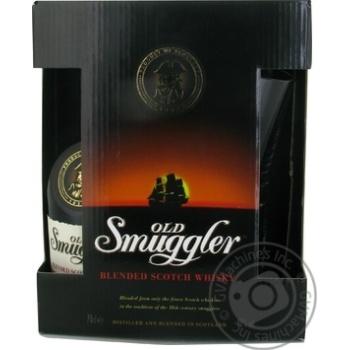 Виски Old Smuggler 700мл + 2 стакана