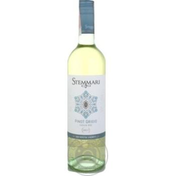 Вино Stemmari Pinot Grigio белое сухое 13% 0,75л