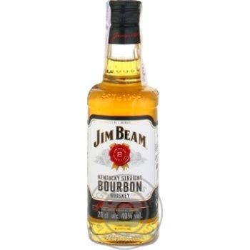 Jim Beam White bourbon whiskey 4 yrs 40% 0,2l