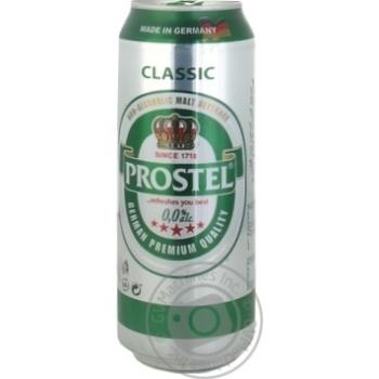 Пиво Prostel безалкогольное ж/б 0,5л