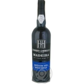 H&H Madeira Finest Medium Dry Meio Seco Wine 19% 0.5l - buy, prices for CityMarket - photo 1