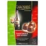 Конфеты Laroshell Finest Cream & Irish Whiskey шоколадные с 45% сливочным ликером 150г