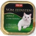 Консерва для дорослих котів Vom Feinsten з індичкою та кролем 100г