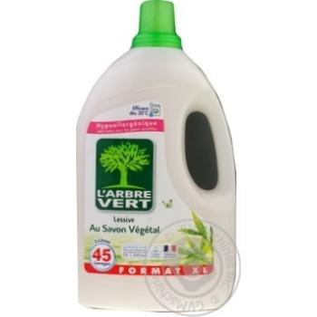 Средство для стирки жидкое L'Arbre Vert Растительное мыло органическое гипоаллергенное 3л