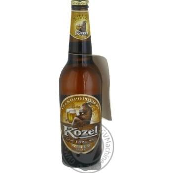 Пиво Kozel Premium Lager світле фільтроване 4,5% 0,5л - купити, ціни на МегаМаркет - фото 1
