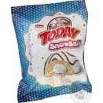 Тістечко Elvan Today Snowball бісквітне з молочною начинкою в глазурі 50г