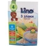 Каша молочна Lino 3 злаки від 4міс. 210г
