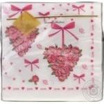 Серветки Luxy Серце з троянд 33*33см 20шт - купити, ціни на МегаМаркет - фото 1