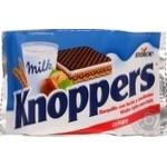 Вафли Knoppers в молочному шоколаде с орехом 25г
