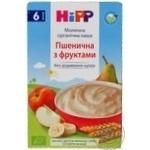Каша детская HiPP Пшеничная с фруктами молочная органическая без сахара с 6 месяцев 250г
