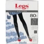 Колготки Legs Cotton женские nero 80ден 4р
