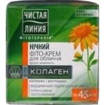 Чистая Линия Фитотерапия Ночной фито-крем для лица Арника и жимолость 45+ 45мл