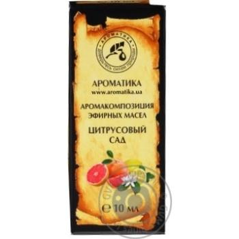 Аромокомпозиція  Ароматика цитрусовий сад 10мл - купить, цены на МегаМаркет - фото 1