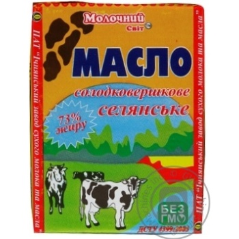 Butter Molochniy svit Peasant style cream sweet cream 73% 200g - buy, prices for MegaMarket - image 3