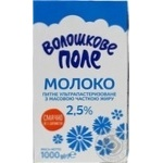 Молоко ультрапастеризованное Волошкове поле 2,5% 1000г