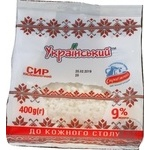 Cottage cheese Ukrainian sour milk 9% 400g